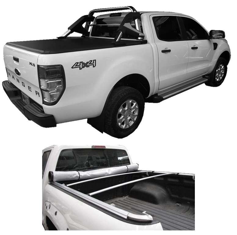 Carpa Plana Ford Ranger XLS Lona Con Marca Enrollable Riel Aluminio Camioneta Ref MC286 ¡Envío Gratis! 0