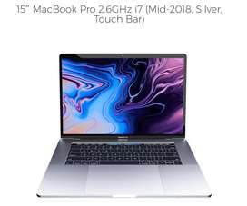 15″ MacBook Pro 2.6GHz i7 (Mid-2018, Silver, Touch Bar)