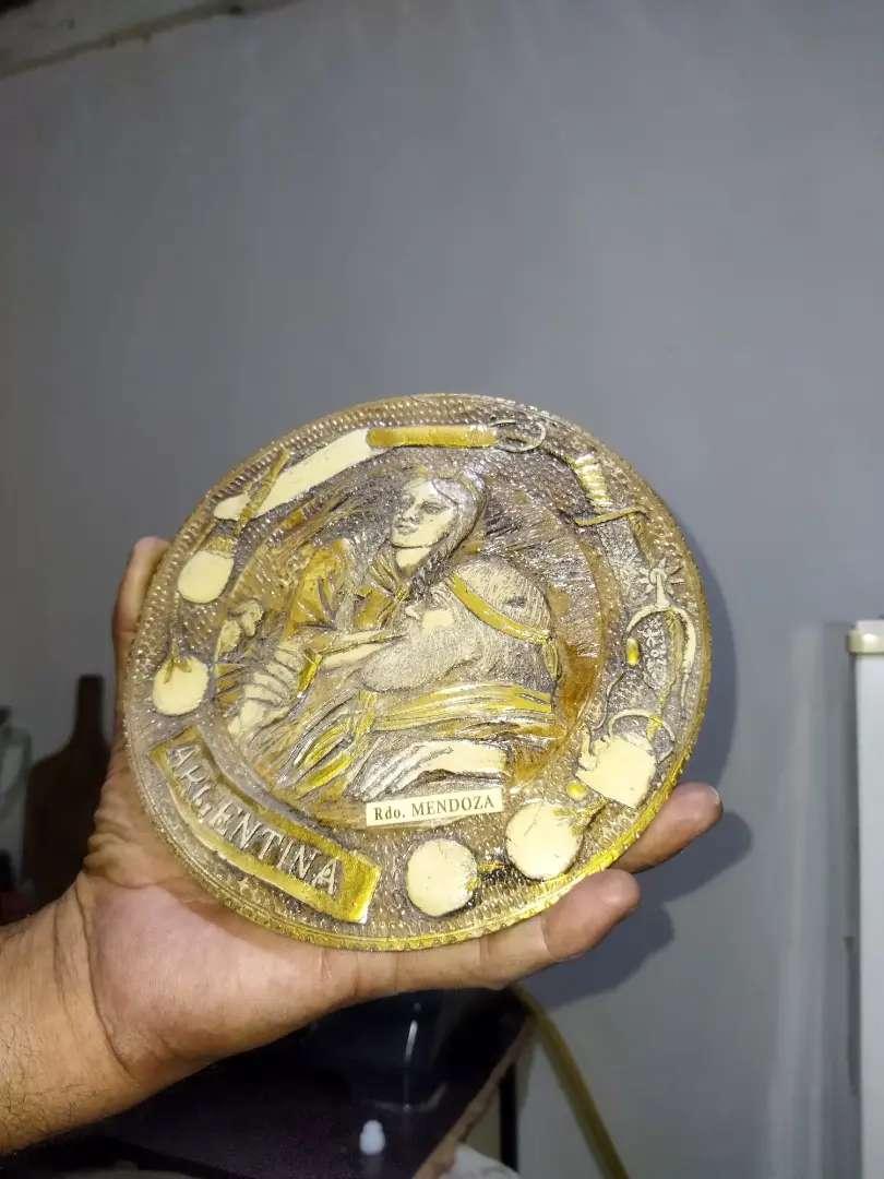 Decorativo argentino recuerdo de Mendoza Tallado en fino material de mármol