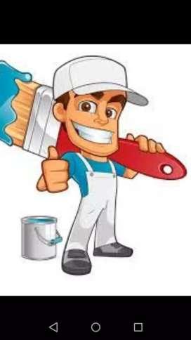 se realiza trabajo  de pintura  y mantenimiento  de placas