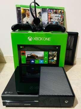 Xbox one con todos sus accesorios