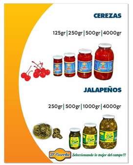 Cerezas, Jalapeños, Pepinillos