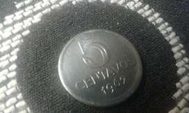 Moneda Brasilera De 5 Centavos Del Año 1967