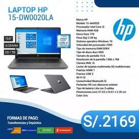 Laptop HP modelo 15dw0020LA