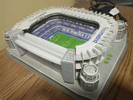 Maqueta estadio Real Madrid armada