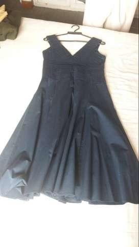 vestido para dama azul oscuro talla M Lauren U
