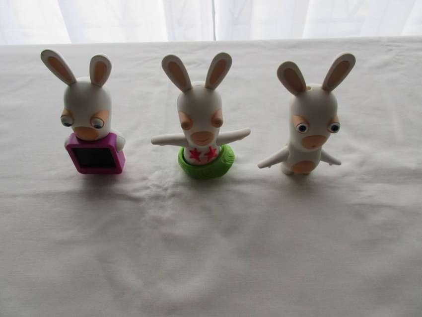 Lote de 3 conejos Rabbids, 2015, de colección de Mac Donald's, excelente estado!! 0