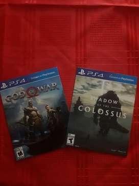 Vendo 2 juegos de play 4 Impecables