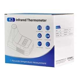 Termómetro infrarrojo digital sin contacto manos libres K3 más base trípode