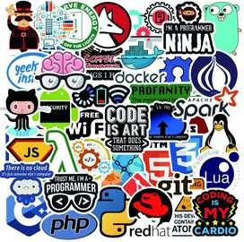 Etiquetas (Stickers) geek (Pack 50)