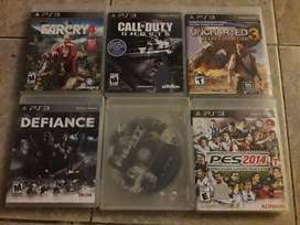 Vendo juegos de play station 3 (uncharted3.defiance.far cry4.call of duty ghost.the fight.pes 2014)