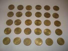 lote de 30 monedas de 1 peso 1975