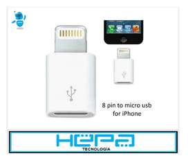 Adaptador Convertidor Micro Usb A iPhone