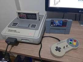 Super Nintendo completo con 2 juegos a 195 soles todo OK!