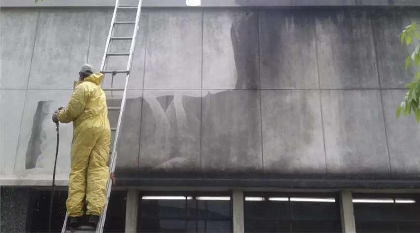 Lavado de fachadas pared o pisos industrial 0