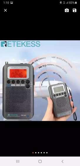 RADIO RECARGABLE FM