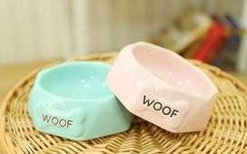 Comedero Plato En Cerámica Para Perro Gato Mascota
