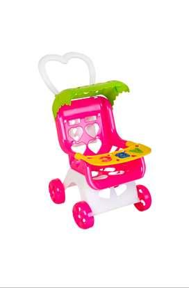 Juguete Coche Paseador Para Muñecas Niñas Princesa Cochesito