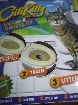 Baño acostumbrador para gato