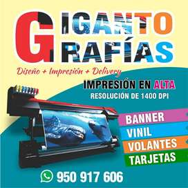 Diseño + Impresión de Gigantografías