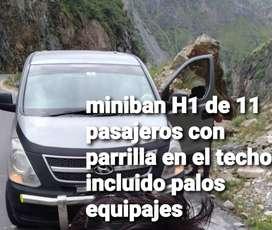 Alquilo minivan H1 con chofer de 11 pasajeros