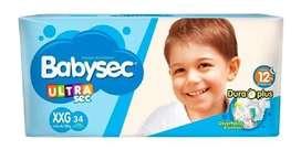 Pañales Babysec Ultra Sec XXG