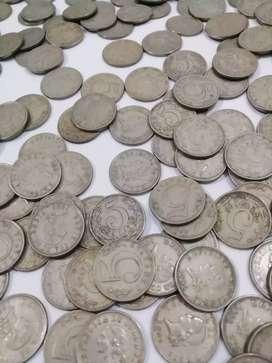 Gran colección más de 130años monedas de 5 centavos 1886