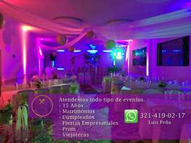 SONIDO PARA FIESTAS EVENTOS DJ LUCES NEÓN ANIMACION por solo 350.000 cámara de humo excelente calidad. No improvise!