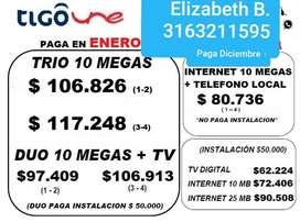 Oferta Hogares Tigo Television B@ Y Tel.