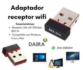 Adaptador receptor wifi