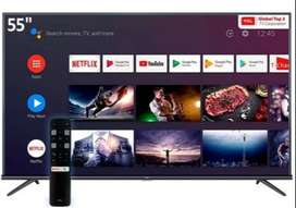 "TV LED TCL 55"" L55P8M ANDROID TV 4K BLUETOOTH MANDO VOZ"
