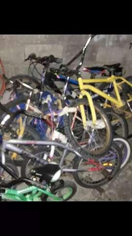 Recicló bicicletas viejas.retiro a domicilio