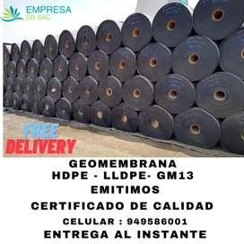 GEOMEMBRANA HDPE - GM13 - LLDPE - SOLDADURA HDPE DE 4 MM Y 5 MM - GEOTEXTL