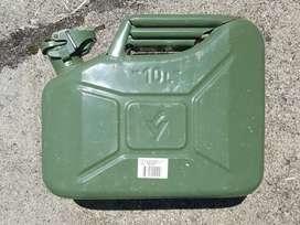 Tanque de combustible metálico tipo militar de 10 litros