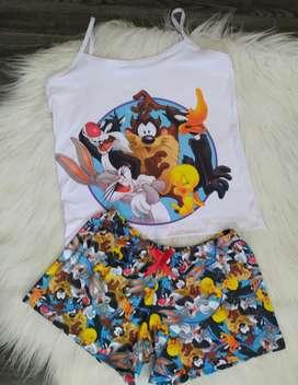 Pijamas de caricaturas
