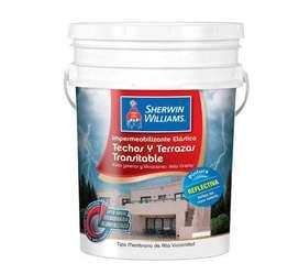 Impermeabilizante elástico para Techos y Terrazas transitable. Sherwin Williams. Color rojo. 10 L