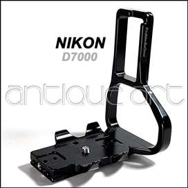 A64 L Bracket Plate Nikon D7000 Con Grip Quick Release Foto