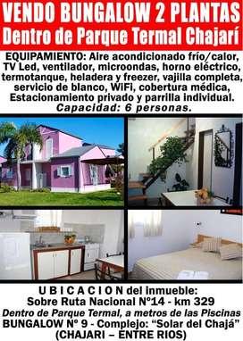Oportunidad VENDO Bungalow dentro TERMAS CHAJARI negocio todo el año! ENTRE RIOS - TURISMO