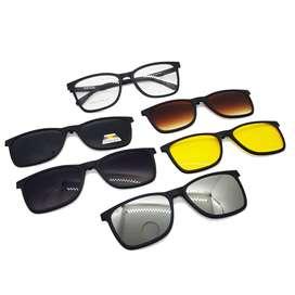 Gafas - Montura Magnética Gafas 5 En 1 Ref 12122 Polarizado Uv 400
