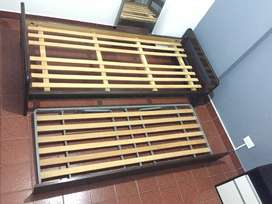 cama de 1 plaza con cama bajo carro guatambu EXCELENTE ESTADO