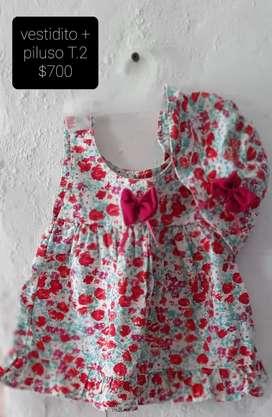 Vendo vestidito de nena más piluso talle 2