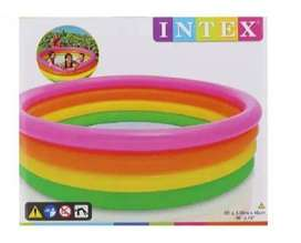 Piscina Inflable Intex De 4 Aros 168x46 Cm