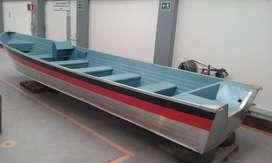 VENDO PERMUTO CASCO LANCHA en aluminio naval 23 pasajeros para estrenar