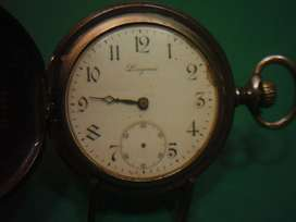 Reloj de Bolsillo Longines Caja de Acero Pavonado