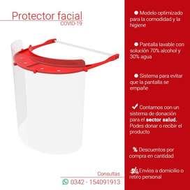 Máscara Protector Facial Faceshield Barrera Protectora