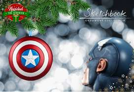 CAPTAIN AMERICA SHIELD / MARVEL / DISNEY ORNAMENT / escudo Capitán / ornamento, adorno, árbol Navidad