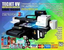 A1 Impresora sobre rigidos UV tinta curable