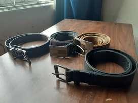 Correas cinturones para caballero formales e informales marcas NY, Converse entre otras