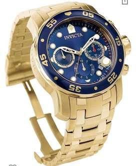 Reloj invicta pro diver oro