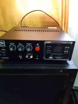 Amplificador doble parlante estereo con radio usb
